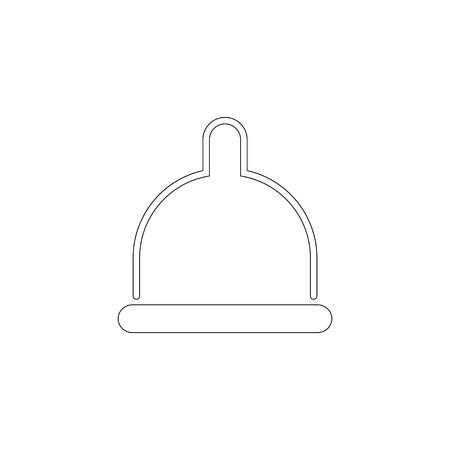 Condom. simple flat vector icon illustration. outline line symbol - editable stroke
