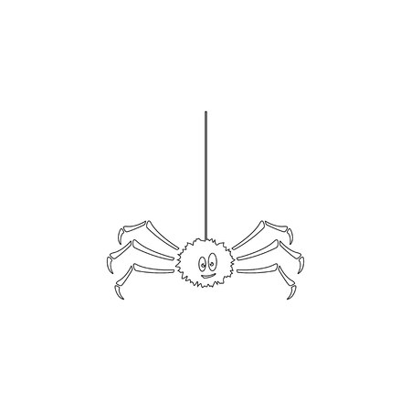 Spider. simple flat vector icon illustration. outline line symbol - editable stroke