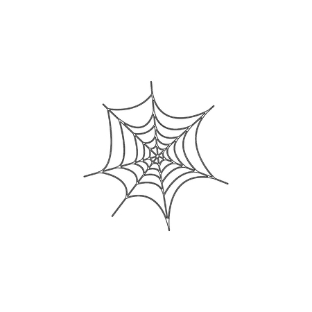 Halloween spider web. simple flat vector icon illustration. outline line symbol - editable stroke