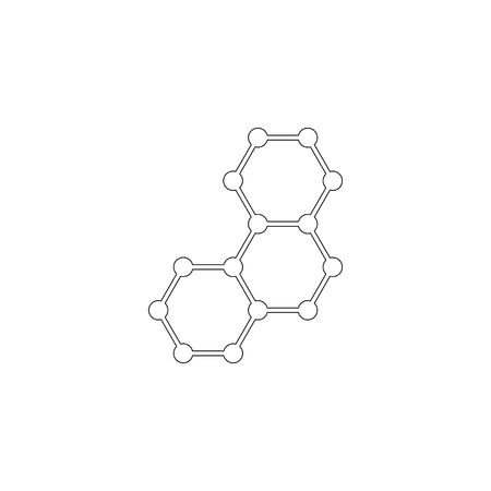 Molecule. simple flat vector icon illustration. outline line symbol - editable stroke