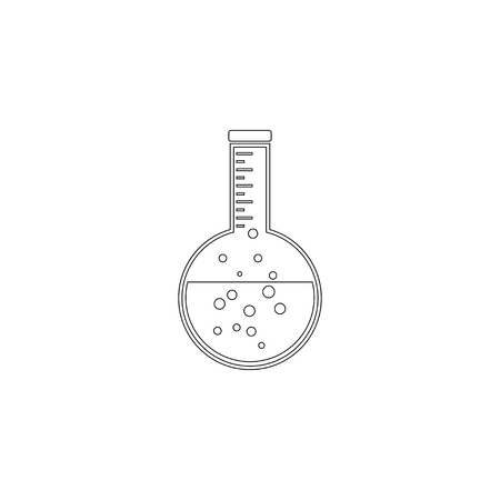 flask. simple flat vector icon illustration. outline line symbol - editable stroke