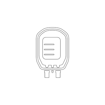 Transfusion. simple flat vector icon illustration. outline line symbol - editable stroke