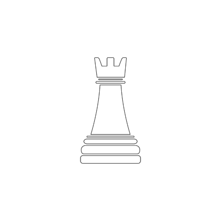 chess. simple flat vector icon illustration. outline line symbol - editable stroke