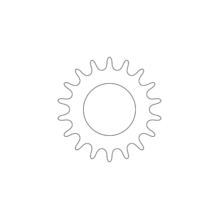 bicycle star chain. simple flat vector icon illustration. outline line symbol - editable stroke