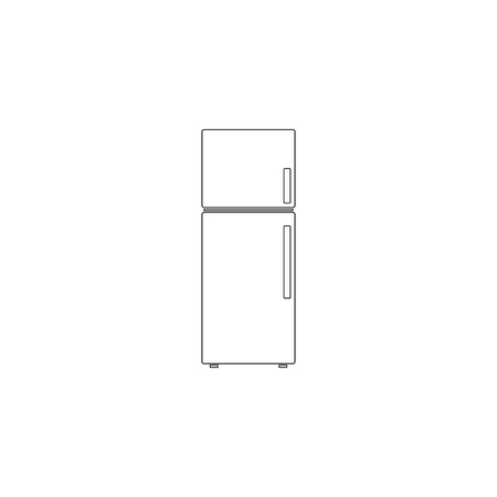 Refrigerator. simple flat vector icon illustration. outline line symbol - editable stroke
