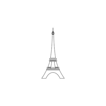 Eiffel tower in Paris. simple flat vector icon illustration. outline line symbol - editable stroke