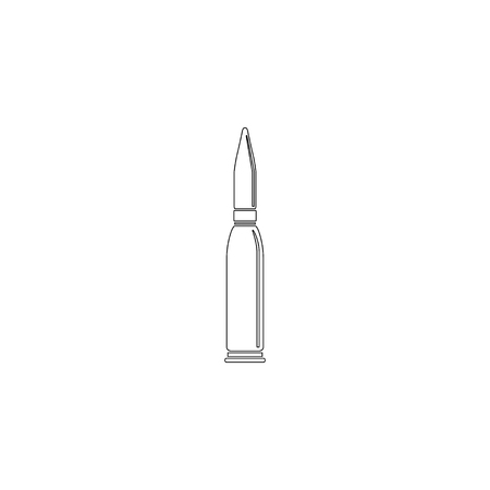 bullet. simple flat vector icon illustration. outline line symbol - editable stroke Illustration