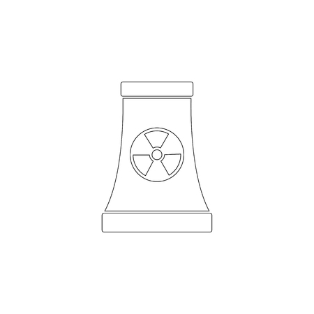 Nuclear power plant. simple flat vector icon illustration. outline line symbol - editable stroke