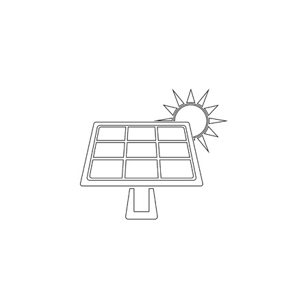 Solar panel. simple flat vector icon illustration. outline line symbol - editable stroke Stock Illustratie