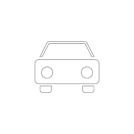 car. simple flat vector icon illustration. outline line symbol - editable stroke