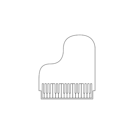 Piano. simple flat vector icon illustration. outline line symbol - editable stroke  イラスト・ベクター素材