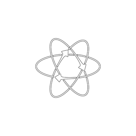 atom. simple flat vector icon illustration. outline line symbol - editable stroke