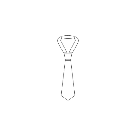 tie. simple flat vector icon illustration. outline line symbol - editable stroke  イラスト・ベクター素材
