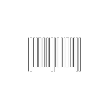 Barcode. simple flat vector icon illustration. outline line symbol - editable stroke Illustration