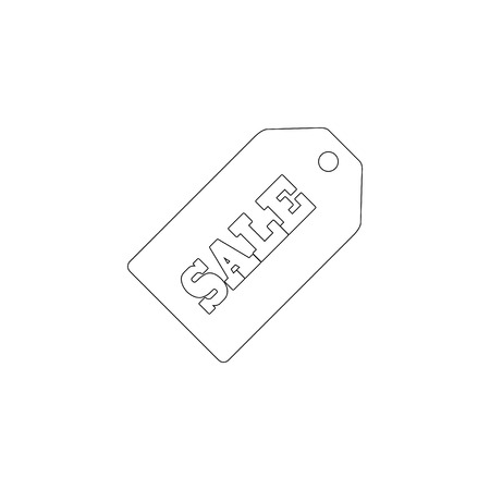 Sale price tag. simple flat vector icon illustration. outline line symbol - editable stroke Ilustração