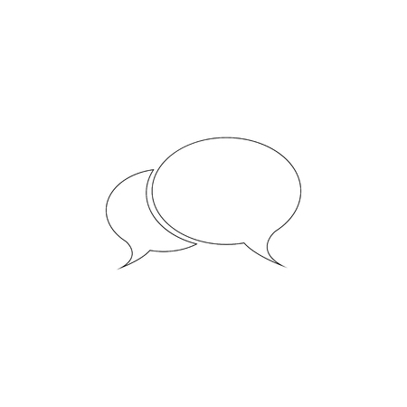 Chat. simple flat vector icon illustration. outline line symbol - editable stroke