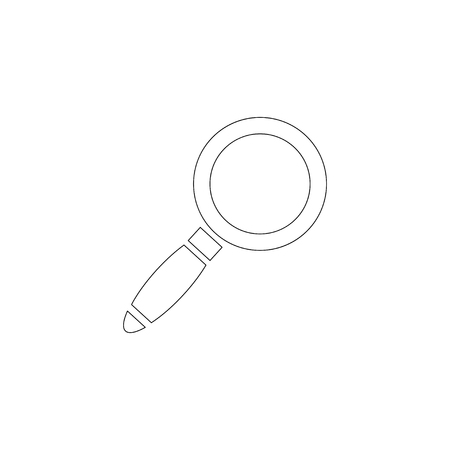 magnifier glass. simple flat vector icon illustration. outline line symbol - editable stroke 矢量图像