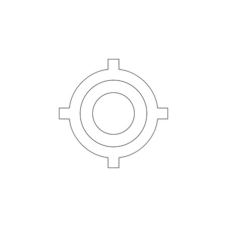 Aim. simple flat vector icon illustration. outline line symbol - editable stroke