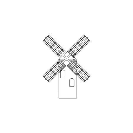 Mill. simple flat vector icon illustration. outline line symbol - editable stroke Reklamní fotografie - 119641008
