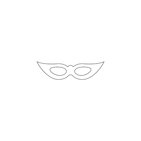 Mask. simple flat vector icon illustration. outline line symbol - editable stroke  イラスト・ベクター素材