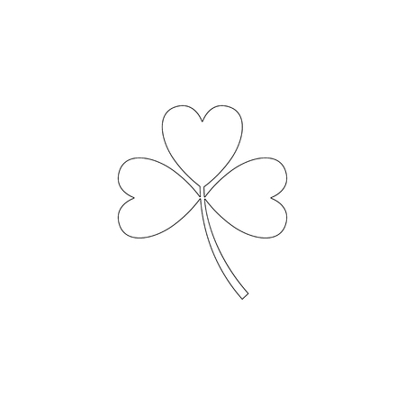 Clover lucky leaf. simple flat vector icon illustration. outline line symbol - editable stroke 矢量图像