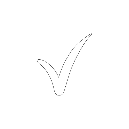Check Mark. simple flat vector icon illustration. outline line symbol - editable stroke