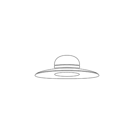 Woman hat. simple flat vector icon illustration. outline line symbol - editable stroke Illustration
