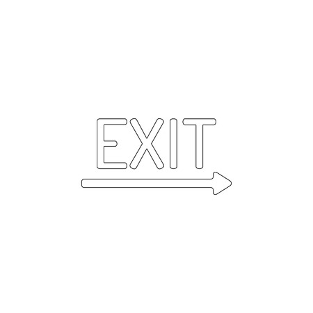 exit. simple flat vector icon illustration. outline line symbol - editable stroke