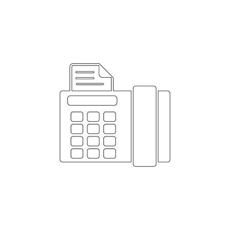Fax. simple flat vector icon illustration. outline line symbol - editable stroke