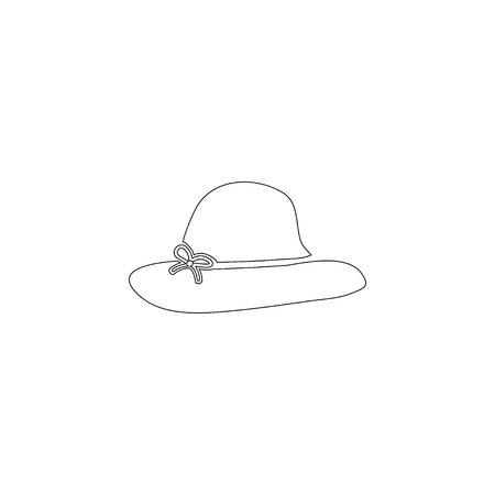 women hats. simple flat vector icon illustration. outline line symbol - editable stroke