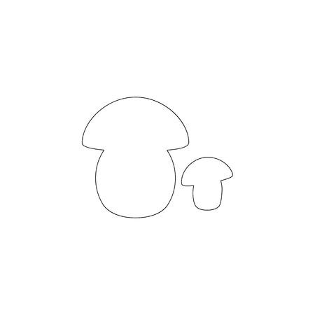 Mushroom porcini. simple flat vector icon illustration. outline line symbol - editable stroke