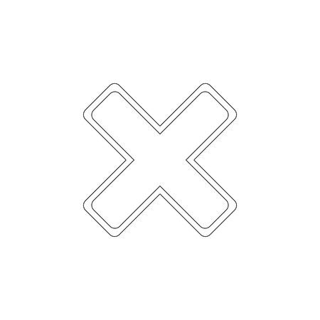 cancel. simple flat vector icon illustration. outline line symbol - editable stroke