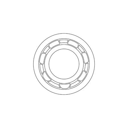 Bearing. simple flat vector icon illustration. outline line symbol - editable stroke Ilustración de vector