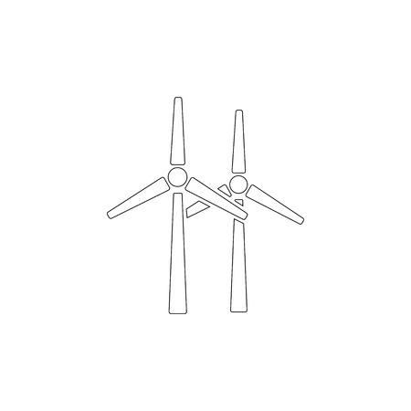 Moulin à vent. illustration d'icône vecteur plat simple. symbole de ligne de contour - trait modifiable