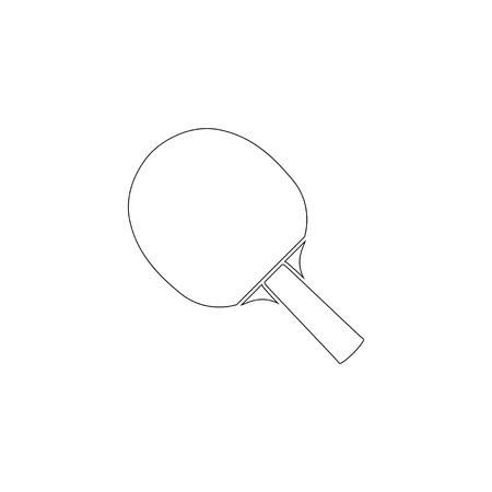table tennis. simple flat vector icon illustration. outline line symbol - editable stroke