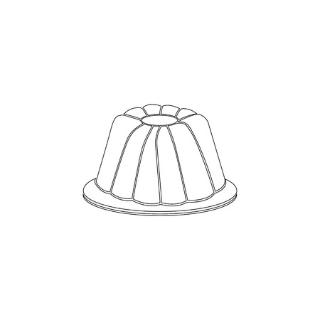 Jelly pudding. simple flat vector icon illustration. outline line symbol - editable stroke
