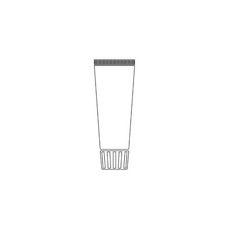 cream tube. simple flat vector icon illustration. outline line symbol - editable stroke