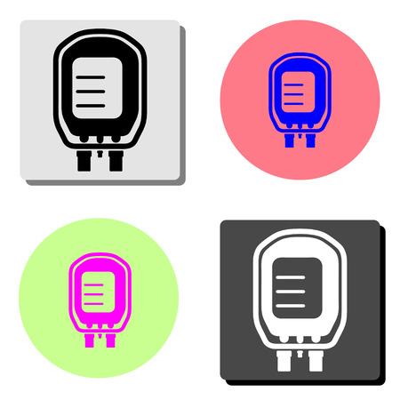 Transfusion. simple flat vector icon illustration on four different color backgrounds