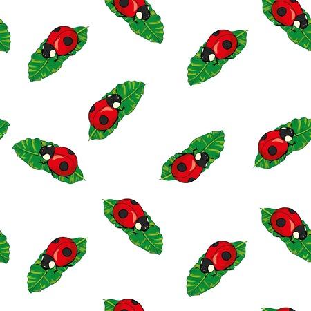 Ladybugs pattern Ilustração