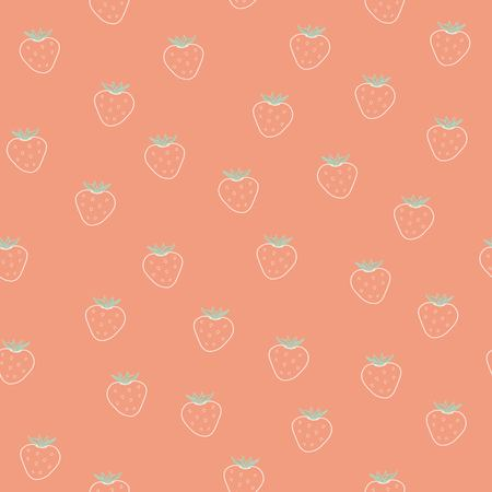 Pattern with strawberry