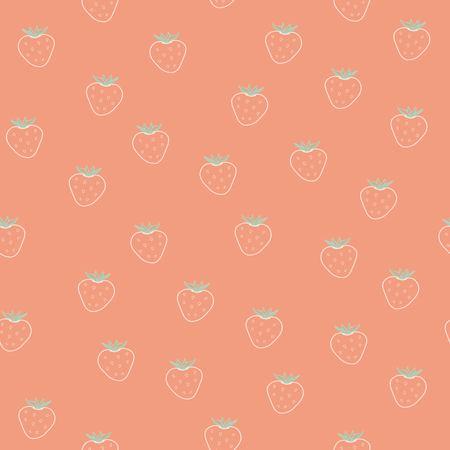Strawberry pattern Ilustração