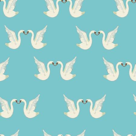 白い羽の白鳥とパターン