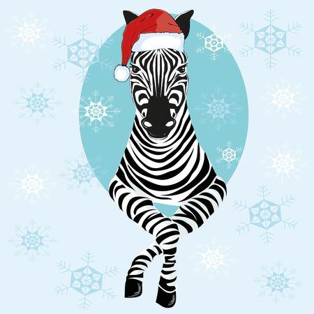 Zebra hat - vector illustration