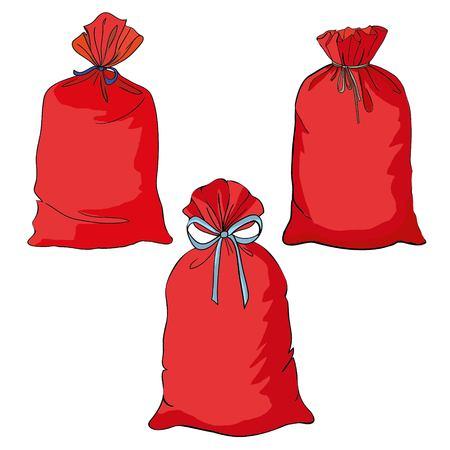 Hand drawn cartoon style shopping bags design.
