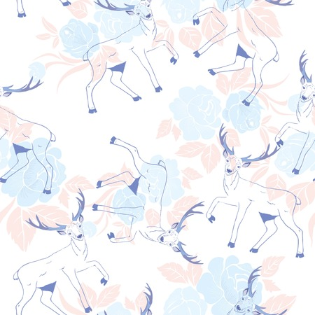 pattern with deer Иллюстрация