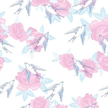 swallow bird vector pattern