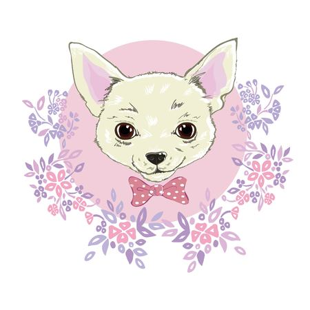 Simple Ribbon Bow Adorable Dog - 90791872-girl-chihuahua-illustration-print-cute-fashionable-dog-vector-sketch-  Picture_855720  .jpg?ver\u003d6