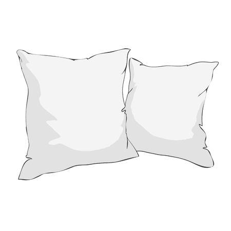 White pillows icon. Ilustração