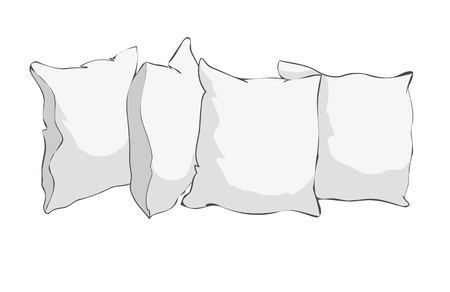 White pillows icon. Ilustracja