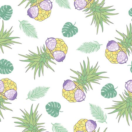 Pineapple seamless pattern. Vector illustration. vegan, jungle, floral, spring, backdrop, bio, classical, decorative, enjoy, flora freshness fruity juice natural painting paper refreshment repeat single south trendy wrapping
